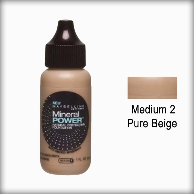 Maybelline Mineral Power Foundation - Medium 2/Pure Beige