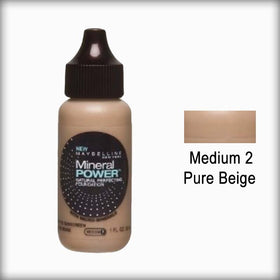 Medium 2/Pure Beige Mineral Power Foundation - Maybelline
