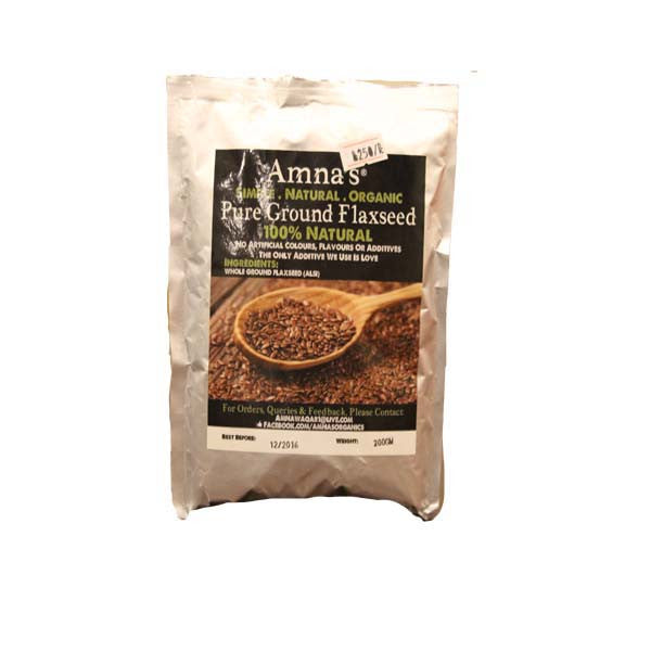 Amna's Natural Pure Ground Flax Seed - HomeBazar.pk