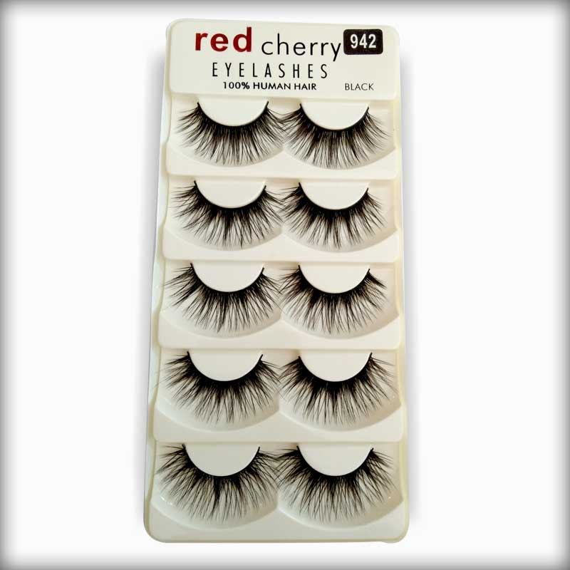 942 Red Cherry Human Hair Eyelashes