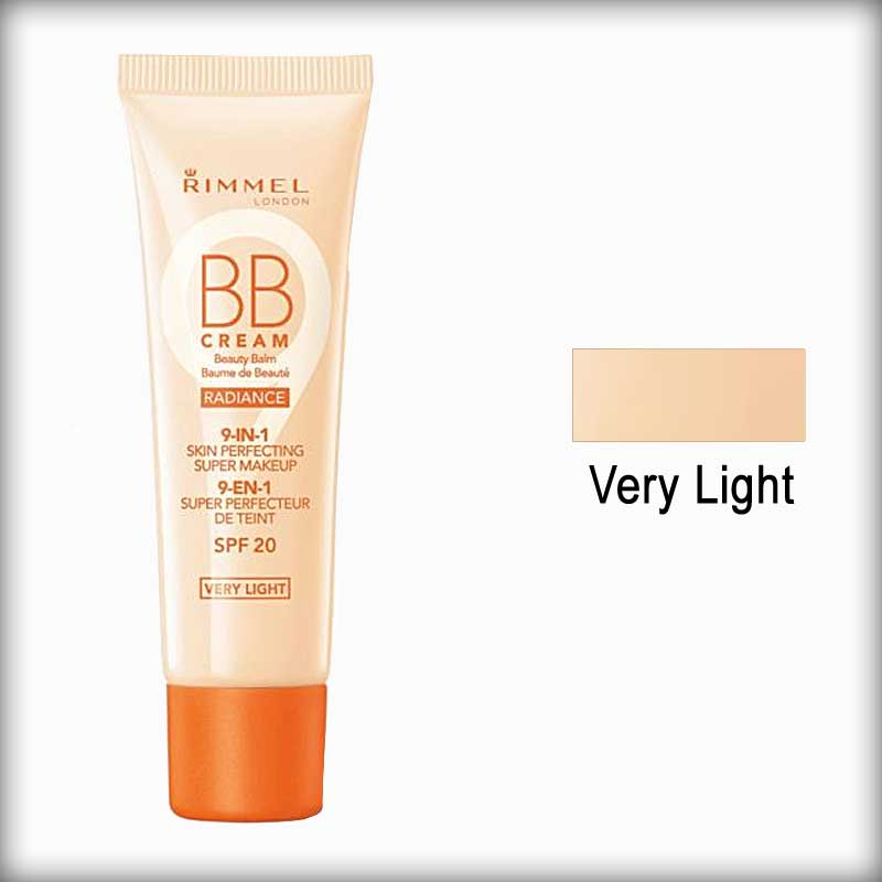 Rimmel BB Cream Radiance 9-in-1 Skin Perfecting Super Makeup Very Light