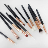 Rose Gold Makeup Brushes Set