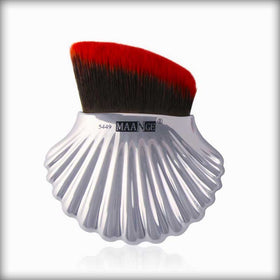 1PCS/3PCS Shell Powder Portable Foundation Makeup Brush Silver