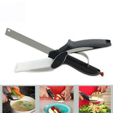 Clever Cutter Stainless Steel Vegetable Meat Scissor - HomeBazar.pk - 1