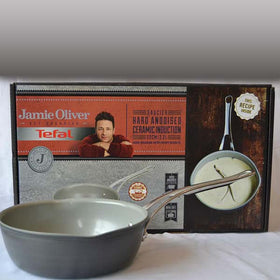 Tefal Jamie Oliver Ceramic Hard Anodised Ceramic Induction Saucier Pan 22Cm/2.2L