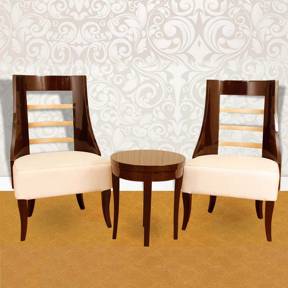 Touchwood Interior 2 Armchair with Round Table