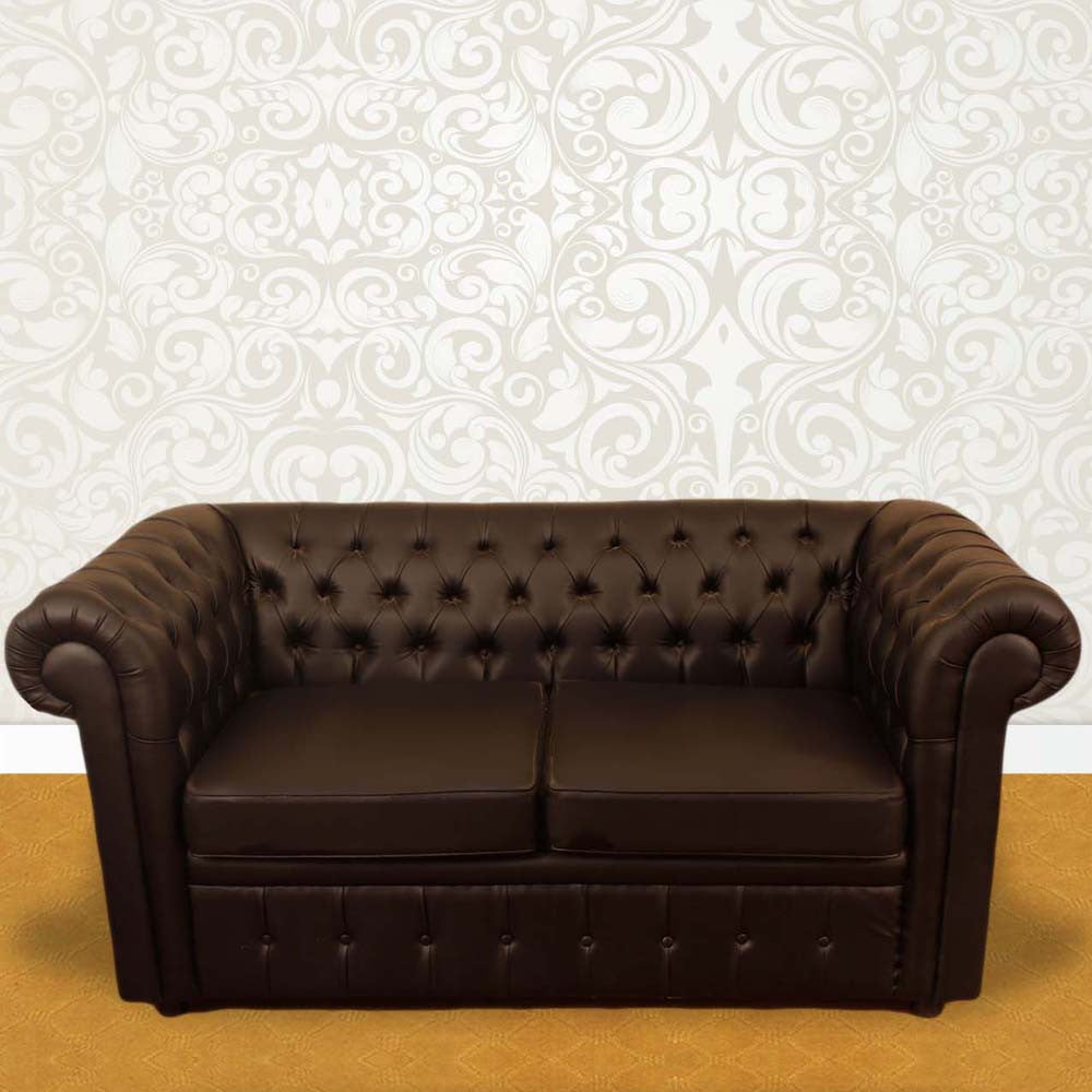Touchwood Interior 2 Seater Leather Sofa