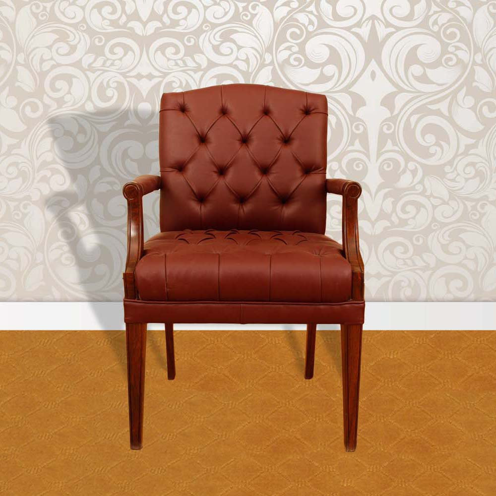 Touchwood Interior Brown Leather Office Chair