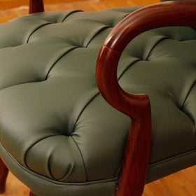 touchwood-interior-green-leather-office-armchair