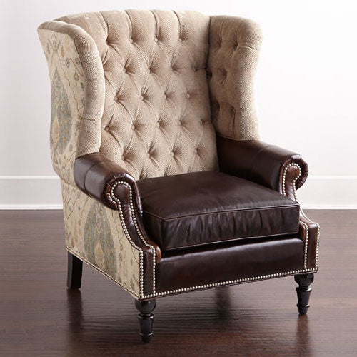 Touchwood Interior Tufted Wing Chair