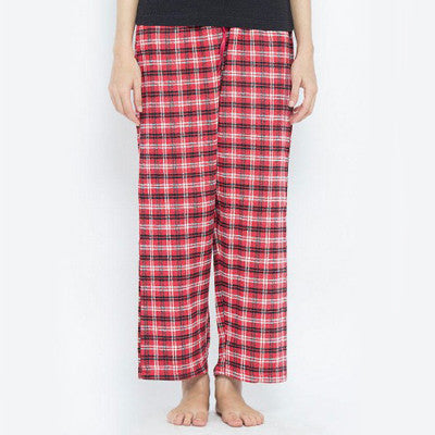 Valerie Red Checkered Cotton Flannel Pajama - FPJ 01 - HomeBazar.pk