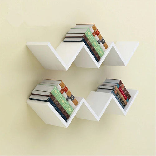 Touchwood Interior W Shaped 1-Piece Wall Shelf