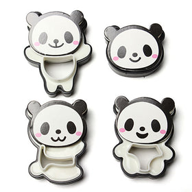 1 Set Cute Panda Pattern Cake Cookie Bread Mold Mould Biscuit Modeling Cutter Pastry Baking Tool Cartoon Diy Cake Mould