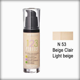 Bourjois Fond de Teint 123 Perfect Foundation for Women - N 53 Vanille Clair