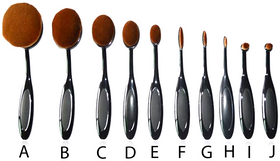 Black Oval Brushes Set