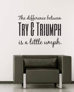 Try-&-Triumph-Quote-Decal-Wall-Sticker - HomeBazar.pk