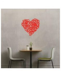 Heart-Wall-Decal-Red-7 - HomeBazar.pk