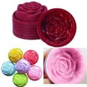 5 Pcs Stylish 3D Silicone Beautiful Rose Shape Fondant Cake Molds Soap Chocolate Mould For The Kitchen Baking Mold
