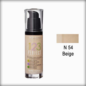 Bourjois Fond de Teint 123 Perfect Foundation for Women - N 54 Vanille Clair