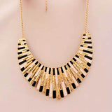 Brand Women Men Jewelry Punk Gold Plated Fanshaped Statement necklaces & pendants