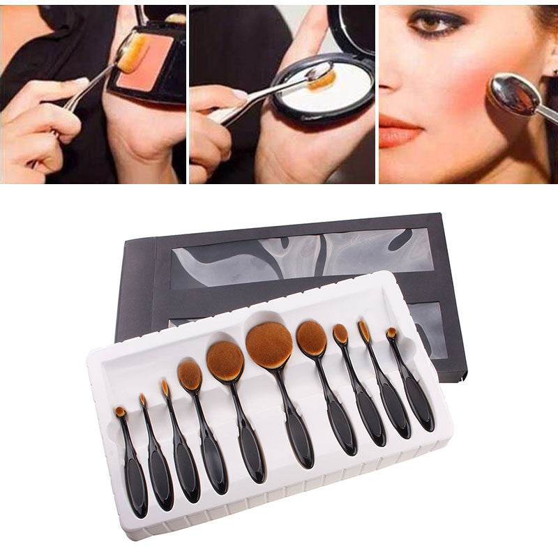 Black Oval Brush Set
