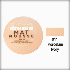 011 Porcelain Ivory Dream Matte Mousse Foundation - Maybelline