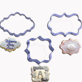 4pcs / lot  European Wedding Frame Metal Cookie Cutters Biscuits Stainless Steel Tools Kitchen Baking Mould - HomeBazar.pk - 2