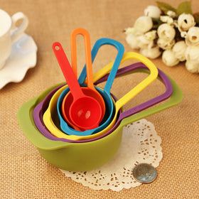 6Pcs/Set KitchenTools ColorfuMeasuring Spoons Measuring Cups Spoon Cup Baking Utensil Set Kit Measuring Tools - HomeBazar.pk - 1