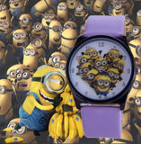 2016 New Fashion cute cartoon Children watch Despicable Me Minions style dial quartz watch leather strap watches seven colors - HomeBazar.pk - 6