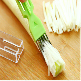 Multi-functional kitchenware vegetable Cutter slicer peelers Magic shredded green onion knife cooking tools kitchen accessories - HomeBazar.pk - 3