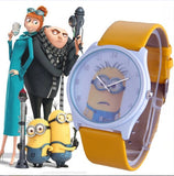 2016 New Fashion cute cartoon Children watch Despicable Me Minions style dial quartz watch leather strap watches seven colors - HomeBazar.pk - 5