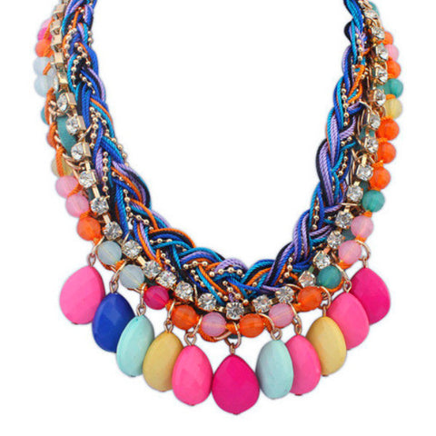 2016 Newest Bohemia Jewelry Rope Pendant Necklace Choker Alloy Party Statement Necklace Women - HomeBazar.pk - 1