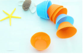6pcs/lot cooking tools cake tools Round shape Silicone cupcake Muffin Cases Cake Cupcake Liner Baking Mold kitchen accessories - HomeBazar.pk - 3