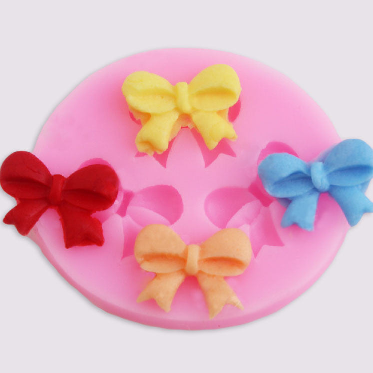 1Pcs three Bows Chocolate Candy Jello silicone Mold cake tools Bakeware sugarcraft cake decorating tools - HomeBazar.pk - 1