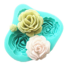 Cheap Promotional  1PCS 3D Rose Flowers shape Fondant Cake  Chocolate Soap Mold Mould silicone baking forms  cooking tools - HomeBazar.pk - 1