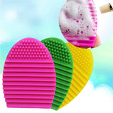 10colors Brushegg Clean brushes Makeup Wash Brush Silica Glove Scrubber Board Cosmetic Cleaning Tools beauty for makeup brushes - HomeBazar.pk - 1