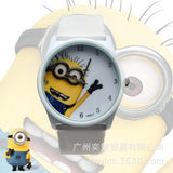 2016 New Fashion cute cartoon Children watch Despicable Me Minions style dial quartz watch leather strap watches seven colors - HomeBazar.pk - 7