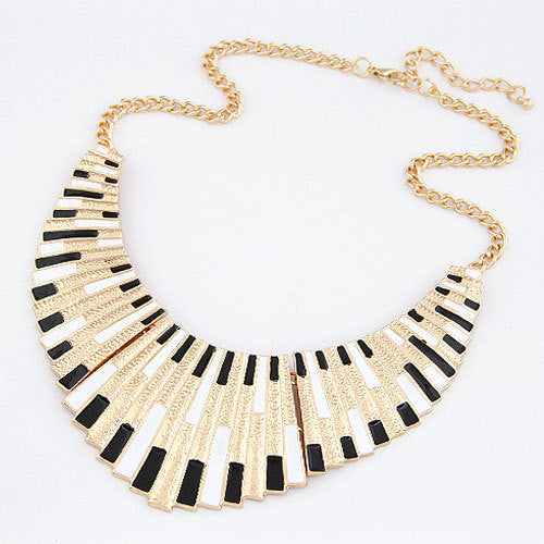 Brand Women Men Jewelry Punk Gold Plated Fanshaped Statement necklaces & pendants - HomeBazar.pk - 1
