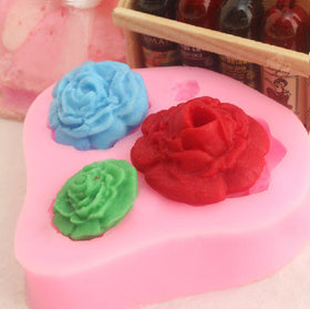 Cheap Promotional  1PCS 3D Rose Flowers shape Fondant Cake  Chocolate Soap Mold Mould silicone baking forms  cooking tools - HomeBazar.pk - 3