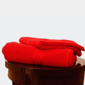 Egyptian Cotton Towel Red Set of Two
