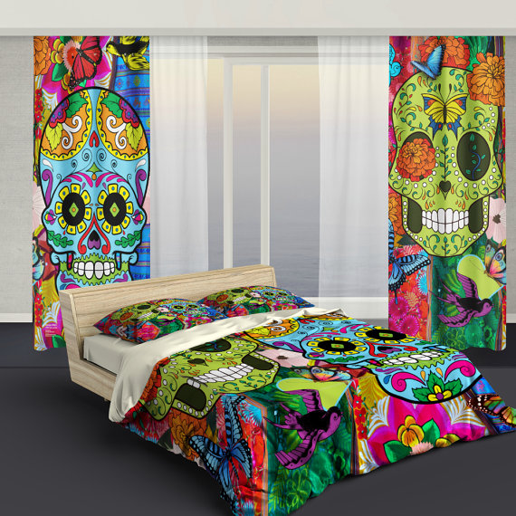 Sugar Skull Bedding Amp Curtains Sugar Skull Culture