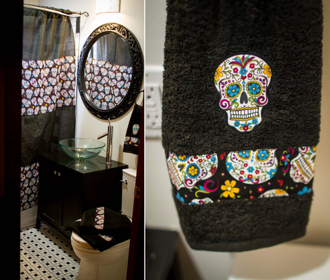 ... Skull Bathroom Accessories Would Be Perfect For You! They Do Have A  Little Bit Of Color In Them, But The Overall Feeling Of Dark, Moody Decor  Is Not ...