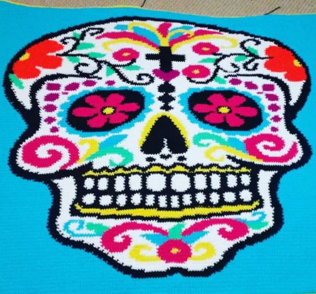 Sugar Skull Crochet Blanket Pattern Sugar Skull Culture