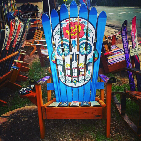 Ordinaire This Sugar Skull Outdoor Chair Would Spruce Up Any Patio Or Yard Just By  Its Very Presence! Perfect For Enjoying A Bit Of Afternoon Sun When You Get  The ...