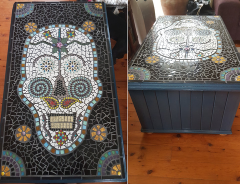 We Often See Beautiful Pieces Of Furniture That Weu0027d Love To Own And This  Amazing Mosaic Sugar Skull Coffee Table Is No Exception!