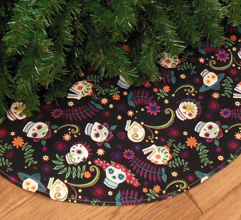 this sugar skull christmas tree skirt will ensure your tree looks amazing from top to bottom this silly season team it with sugar skull ornaments and - Christmas Sugar Skull