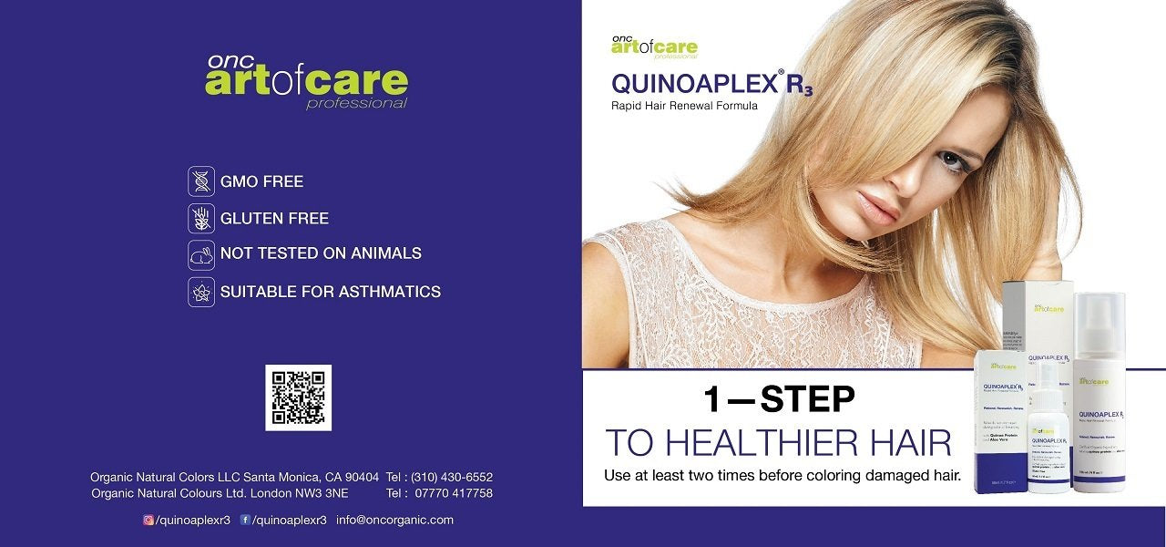 QUINOAPLEX 1-STEP TO HEALTHIER HAIR BROCHURE PAGE 1
