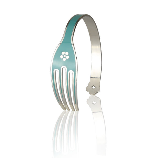 4-CHETTA - Palladium Base with Tiffany Enamel Bracelet