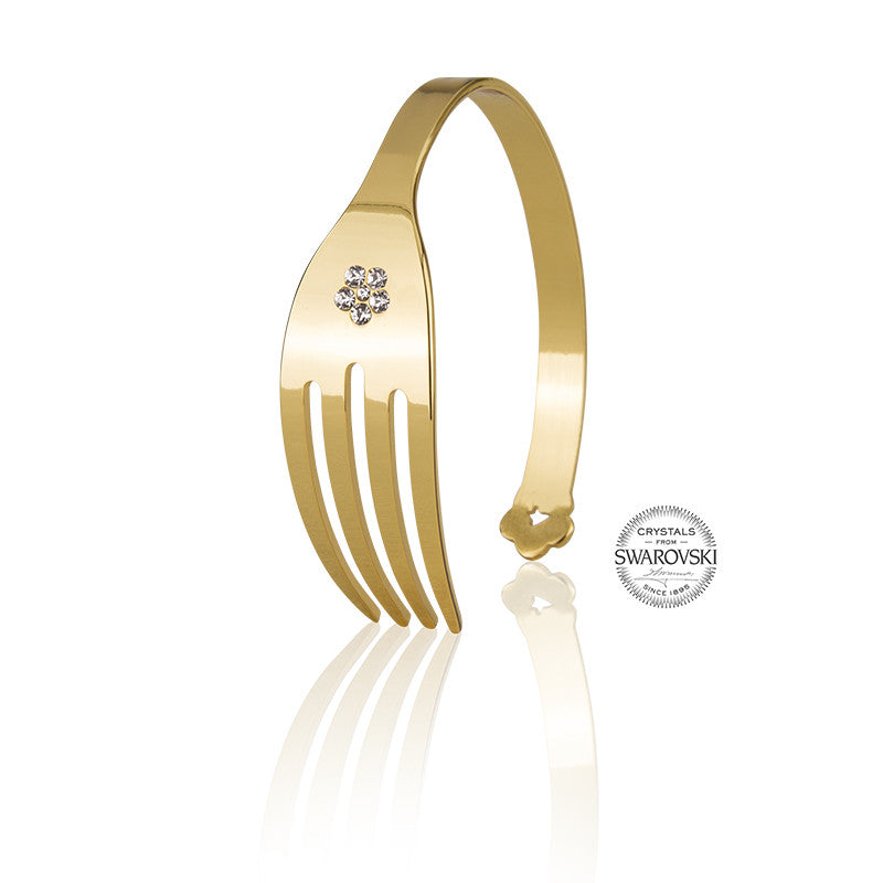 4-CHETTA - Gold with Swarovski Bracelet