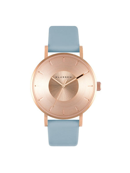 Iris Rosegold Light Blue 36mm
